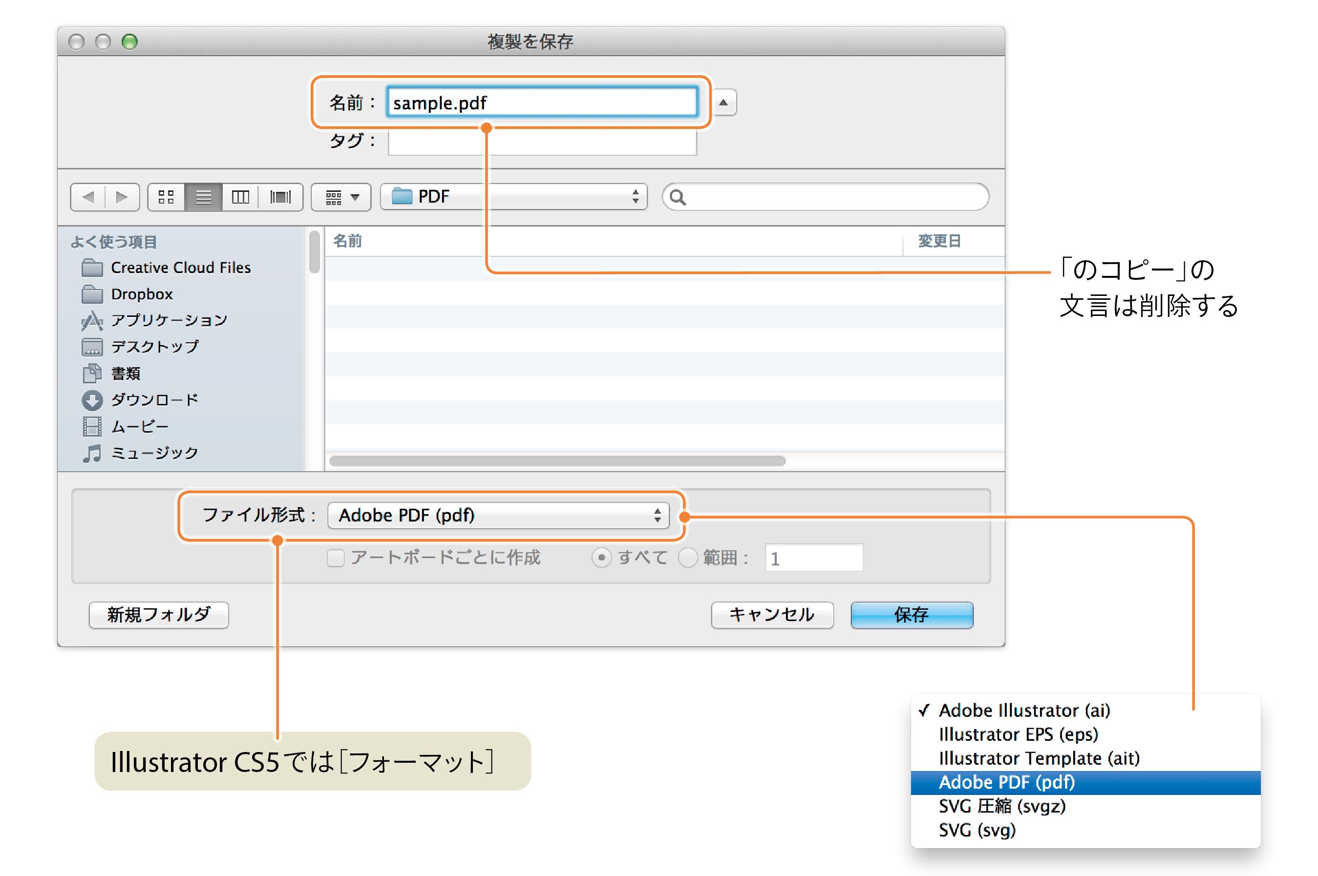 pdf イラストレーターファイル 変換