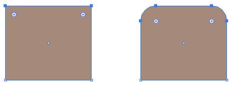 しかし、図形を変形すると、角丸の大きさが変わってしまいます。