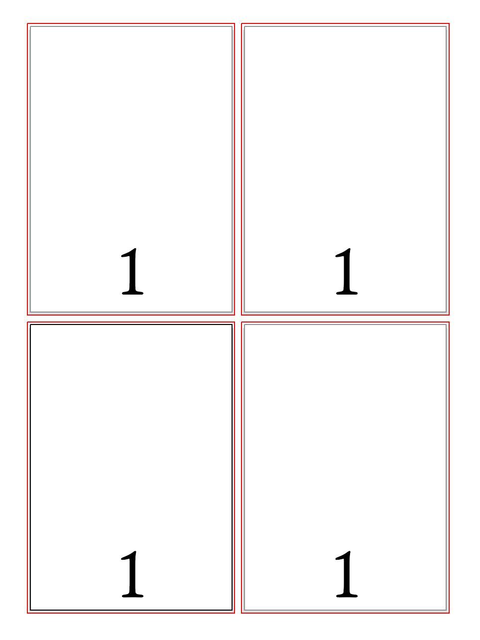 ノンブル indesign